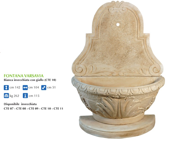 Produzione artigianale fontane da parete ideal giardino - Fontane a parete da giardino ...